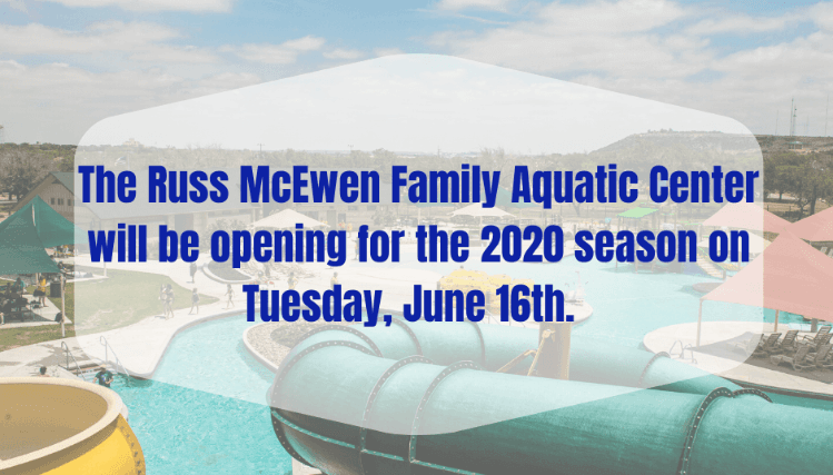 Aquatic Center Opening 2020