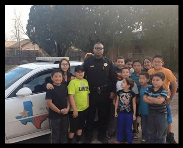 Officer Willie Wright, Jr. With Some Neighborhood Kids